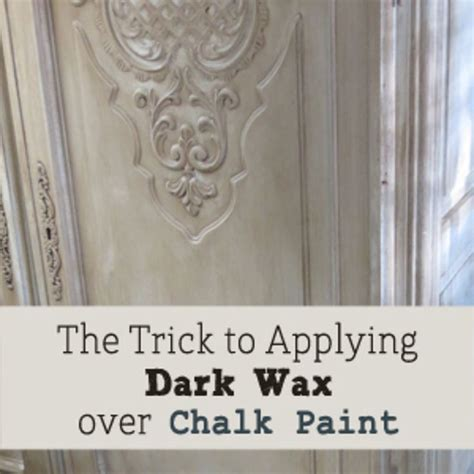 chalkboard paint application trick to applying wax chalk paint on furniture