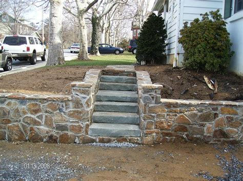 cutting edge landscaping stone work steps