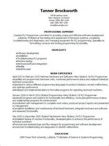 Professional Plc Programmer Resume Templates To Showcase