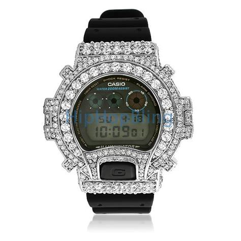 big boy cz platinum custom g shock dw6900 custom g