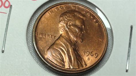 1969 s ddo penny doubled die error coin collectible coins