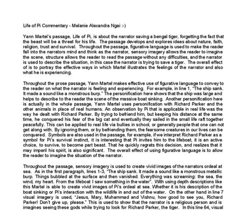 Of Pi Essay Topics by Of Pi Essays Docoments Ojazlink