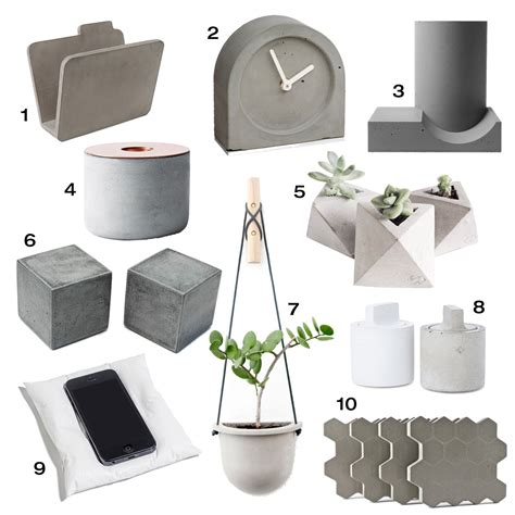 design accessories 10 modern concrete accessories design milk