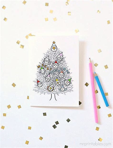 printable christmas cards in color christmas cards to color in mr printables