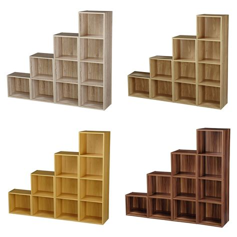 shelves for bookcase 1 2 3 4 tier wooden bookcase shelving display storage wood