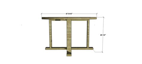 Free Diy Furniture Plans How To Build An Indoor Outdoor Patio Table Dimensions