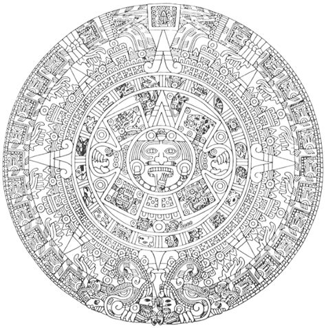 free coloring pages of aztec pyramids
