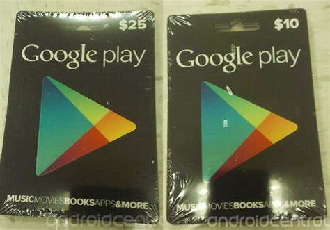 Google Play Gift Card Denominations - google play gift cards photographed in the wild