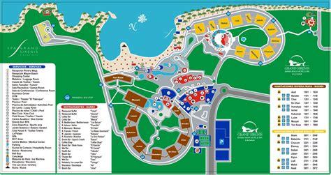 grand map it grand sirenis riviera resort travel by bob