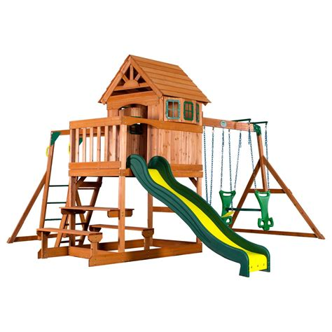 8 Swing Set by Springboro Wooden Swing Set Playsets Backyard Discovery