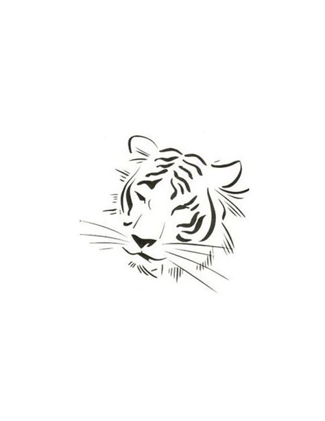 tiger tattoo outline designs tiger outline with less detail tony s
