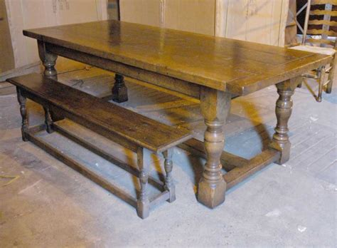 oak bench dining table english abbey oak rustic refectory table bench dining set
