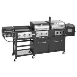 Backyard Grill Gas Charcoal Combination Grill Outdoor Gourmet Pro Triton Supreme 7 Burner Propane And Charcoal Grill Griddle And Smoker