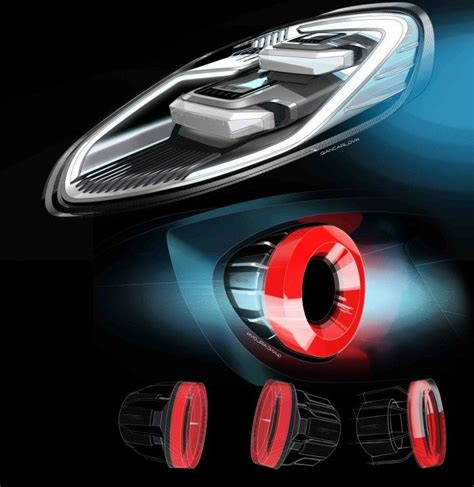 ford gt lights ford gt headlight and light design sketches by