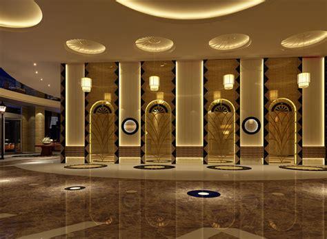huge hall lobby  cgtrader