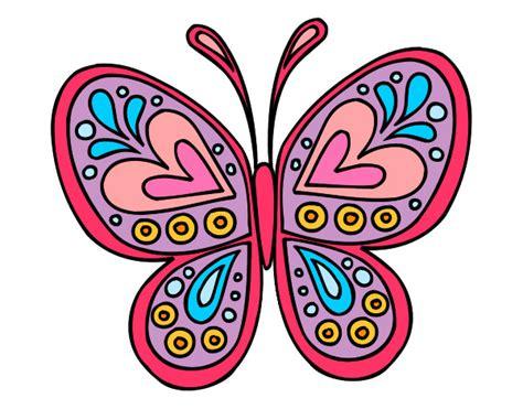 imagenes mariposas de colores dibujo de mariposa de colores pintado por annsita en