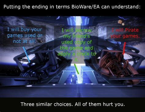 Mass Effect 3 Ending Meme - ea ending translator mass effect 3 endings reception