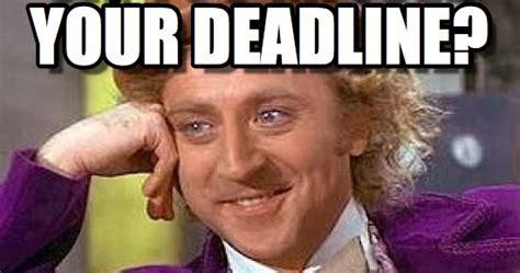Original Deadline Your author michael wilson my missed deadline