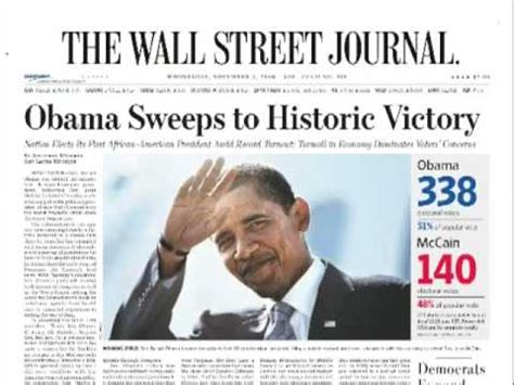 2008 election newspaper covers youtube