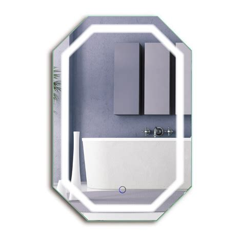 defog bathroom mirror led octagon 20 x30 bathroom mirror lighted mirror