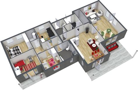 home design for 4 room 4 bedroom floor plans roomsketcher