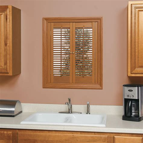 Interior Shutters Cheap by Homebasics Traditional Faux Wood Oak Interior Shutter