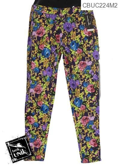 Celana Katun Anak Motif Bunga 1 celana stretch motif bunga pelangi bawahan rok murah