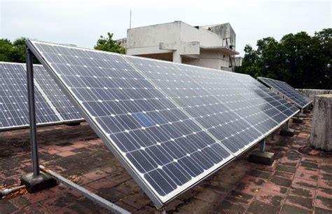 solar energy unit mangalore development authority installs rooftop solar power unit on its building