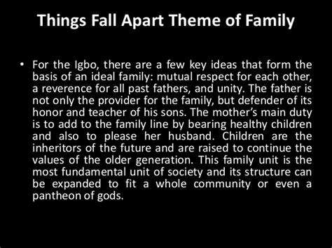 themes things fall apart things fall a part themes and character