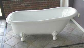 bathroom free standing bath tub and slipper tub also
