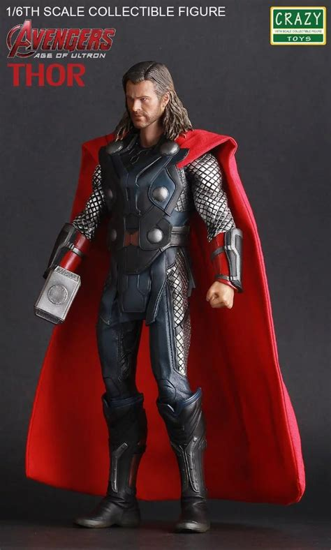 toys acengers age of ultron thor pvc figure collectible model 30cm kt3112 in
