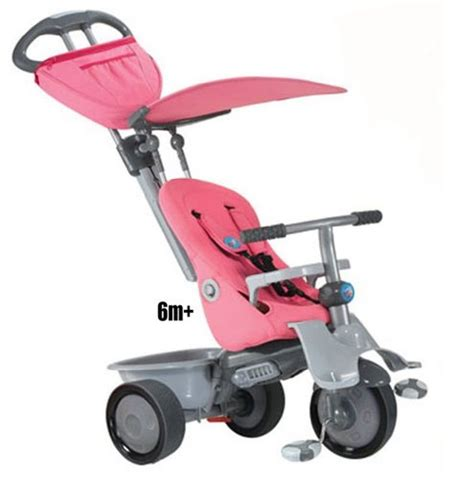 Smart Trike Recliner 4 In 1 by Smart Trike Recliner 4 In 1 Pink Bicycles For Toddlers