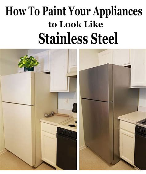 how to paint metal kitchen cabinets e coating in place was best 25 painting appliances ideas on pinterest painted