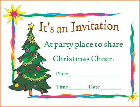 6 christmas party invitation template bookletemplate org