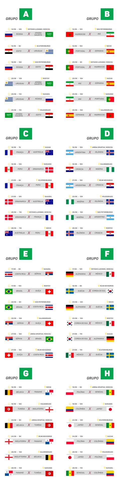 copa mundial 2018 horarios copa do mundo 2018 confira tabela datas e hor 225 rios