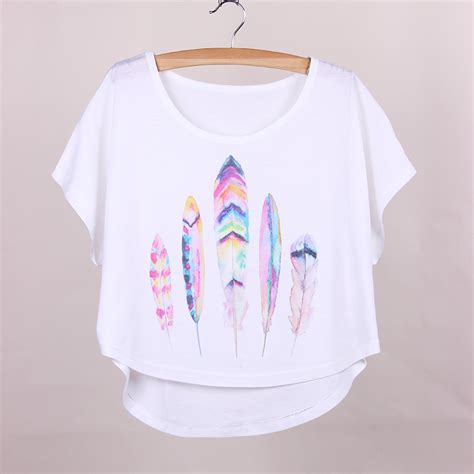 wholesale t shirts with designs t shirts with designs wholesale suppliers product directory novelty design plus size t shirt women feather print girls