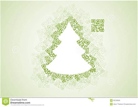 christmas tree shape patchwork of qr codes stock photo