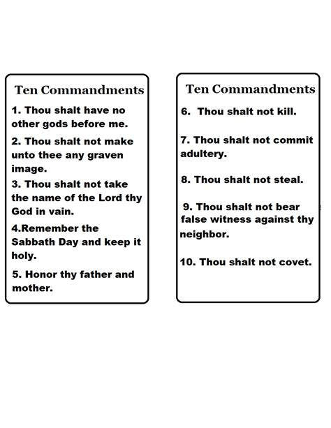 Church House Collection Blog Ten Commandments Template Ten Commandments Printable Template
