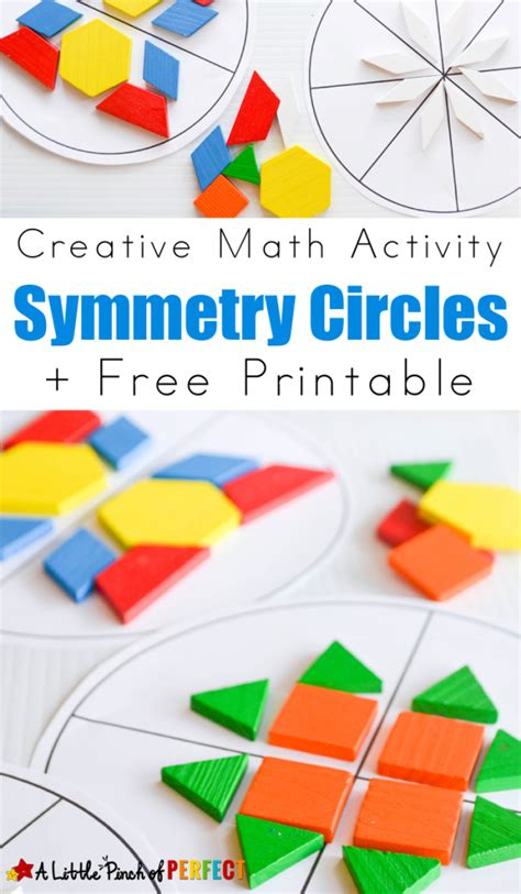 pattern block symmetry activities symmetry circles math activity and free printable