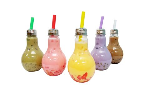light bulb tea qbubble tea products high quality boba tea