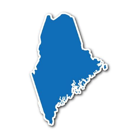 Maine State Stickers