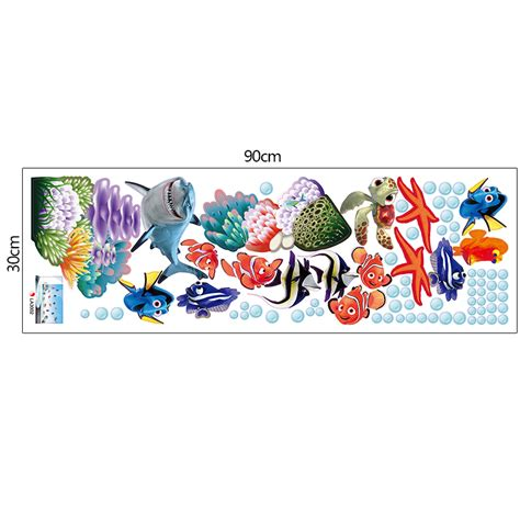 wall stickers fish new fish seabed nemo wall sticker wall sticker