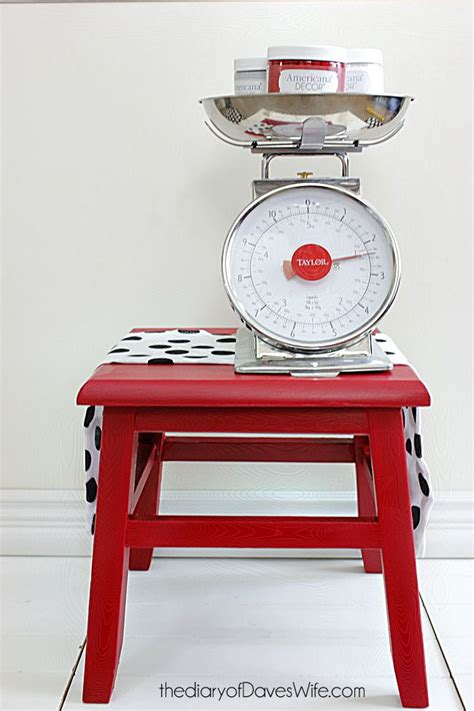 Pinterest Bedroom Decor Ideas little red stool painted in americana chalky finish paint