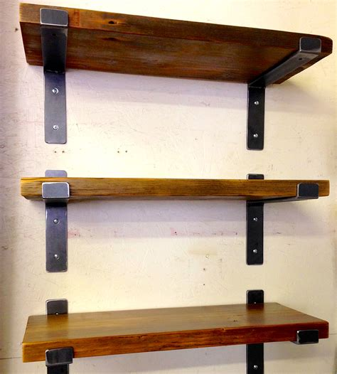 steel reclaimed wood wall shelf wood walls shelves
