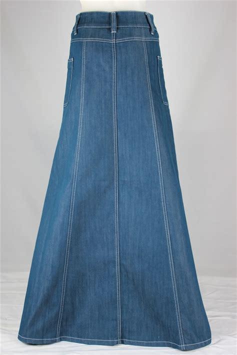 modest chic denim skirt sizes 6 18