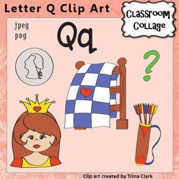 color that starts with q alphabet clip letter q items start w q color