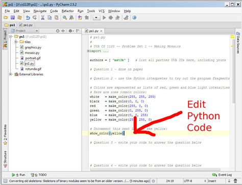 pycharm testing your python code with pycharm cs1120 lab guide