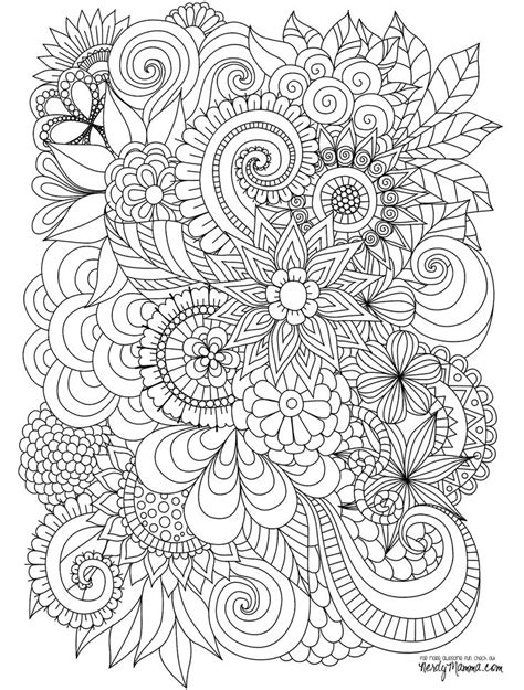 floral inspirations a detailed floral coloring book books 25 unique flower coloring pages ideas on