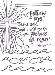 coloring pages jesus follow me 25 best ideas about matthew 4 19 on matthew 4