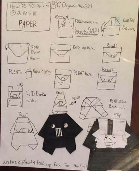 How To Fold Origami Darth Paper - darth vader search results origami yoda page 4